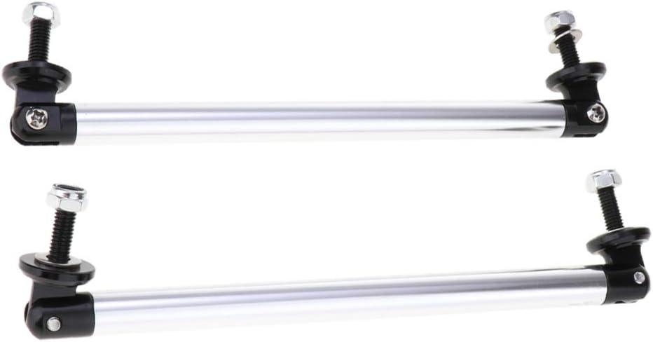 Silber 200 mm 2X Verstellbare Vordere Sto/ßf/änger Lippen Splitter Stangen