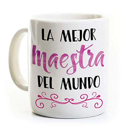 La Mejor Maestra Coffee Mug - Spanish Best Teacher in the World - Gift