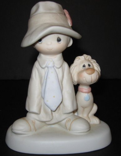 Precious Moments - To A Special Dad - Rare 1st Edition with no Production Mark (Rare Porcelain Figurine)