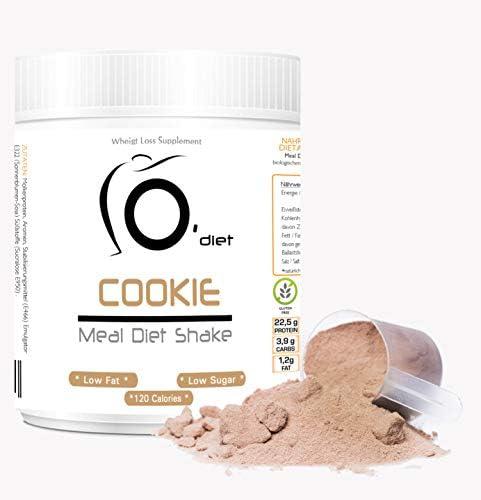 Protein-Diät-Shake | Mahlzeitenersatz | MEAL DIET SHAKE Line@Diet, für Diät, Sport und Fitness! MOLKENPROTEIN | 500 g | Hohe Löslichkeit | Italienisches Produkt (COOKIES, 500g)