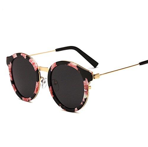Personalidad Retro Y Mujeres La Brillante Color Gafas a3 Ronda Sol Metal A2 De Utwnqf8