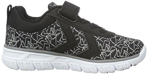 Hummel Crosslite Print Sneaker Jr, Zapatillas Deportivas para Interior Unisex Niños Negro (Black)