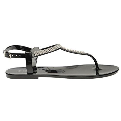 Beach Athletics Mujer Princess Toe Sandalias Verano Zapatillas Calzado Verano Negro 5 (38)