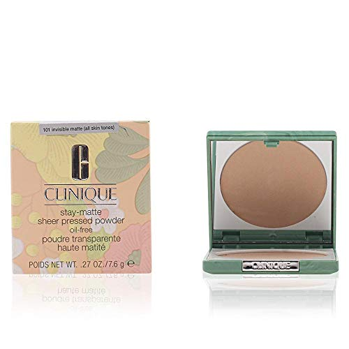 Clinique Stay-Matte Sheer Pressed Powder for Dry Combination to Oily, No. 01 Stay Buff (vf), 0.27 Ounce