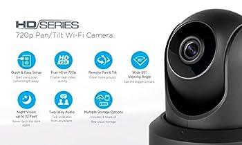 Amcrest Hdseries 720p Wifi Ip Video Security Surveillance Camera, Plugplay, Pantilt, Two-way Audio & Night Vision Ipm-721b (Black) 10