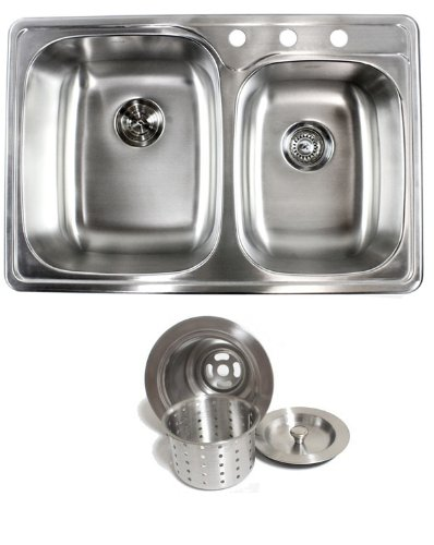 mount drop stainless steel double