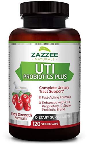 UTI Relief Super Fast-Acting 120 Veggie Caps | UTI Probiotics Plus | Plus 25 Billion CFU Probiotics for Long-Term Relief | 60 Servings | Extra Strength | Vegetarian/Vegan