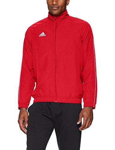 adidas Core18 Presentation Jacket, Power Red/White, Large