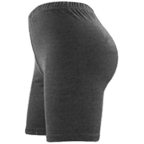 ginocchio donna e elasticizzato sopra lunghi pantaloncini fin da Elegance sportivi al Charcoal cotone lycra in CTn1xZqxwg