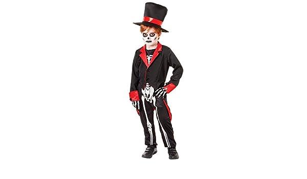 BONE JANGLES HALLOWEEN COSTUME SKELETON CHILD LARGE TOP HAT JACKET JUMPSUIT MR