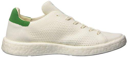 adidas Stan Smith Boost Primeknit, Sneaker a Collo Basso Unisex-Adulto Bianco (Footwear White/Footwear White/Green)