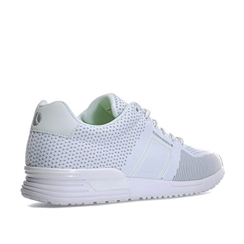Bjorn Borg Hombres R100 Low Knit Trainers Uk 9.5 Blanco