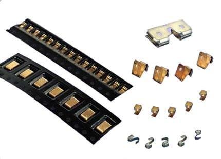100 pieces EMI Connector Gaskets /& Grounding Pads 0.10 BeCu Tin 1.5 x 2.12