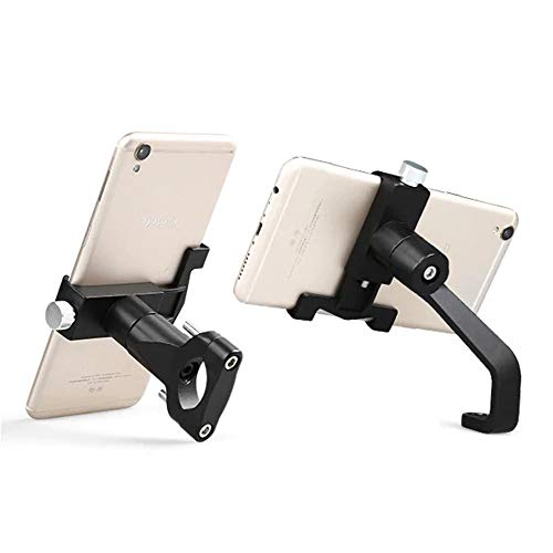 - GoXteam Motorcycle Phone Holder Universal Aluminum Alloy Support Telephone Rearview Mirror Moto Phone Holder GPS Bike Handlebar Holder