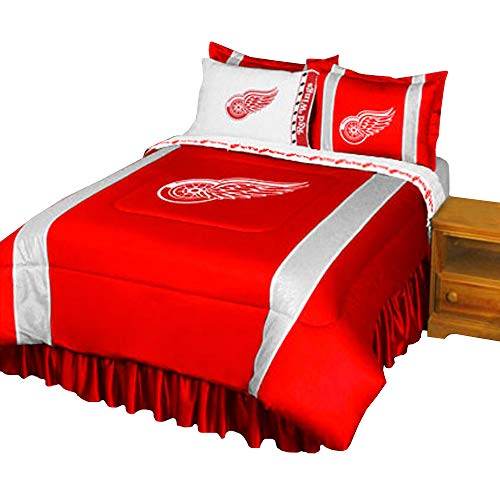 (NHL Detroit Red Wings - 5pc BED IN A BAG - Queen Bedding)