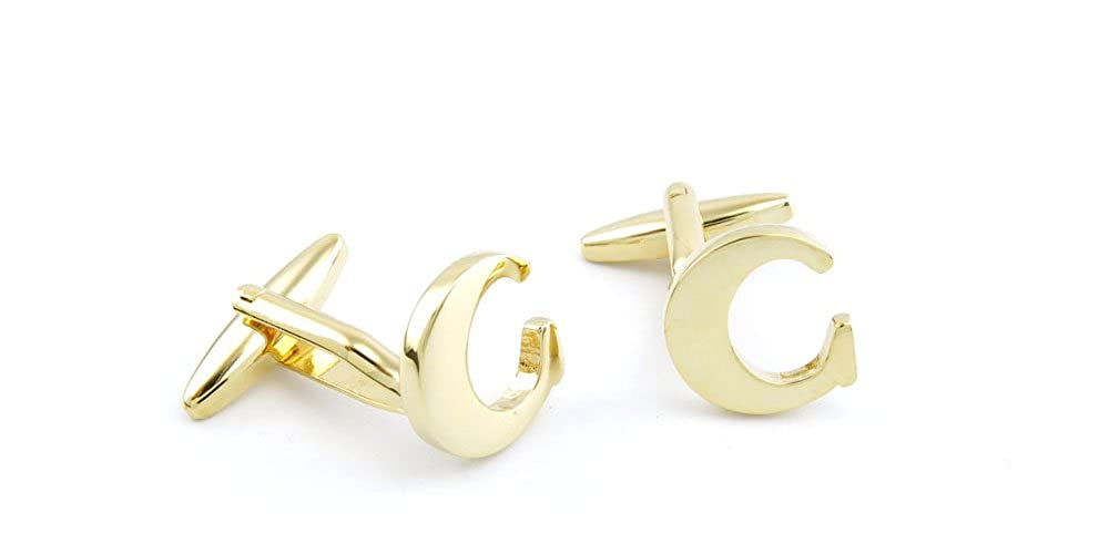 Cufflinks Cuff Links Z0400 Golden Letter C Fashion Jewelry Gift Wedding Party Shirt Mens Button Classic