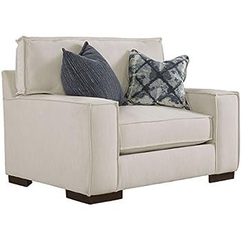 stone beam lauren down filled overstuffed chair 46 w slate kitchen dining. Black Bedroom Furniture Sets. Home Design Ideas