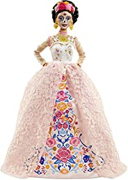 Barbie Signature Dia De Muertos 2020 Doll (12-in Brunette) in Embroidered Lace Dress and Flower Crown, with Ce