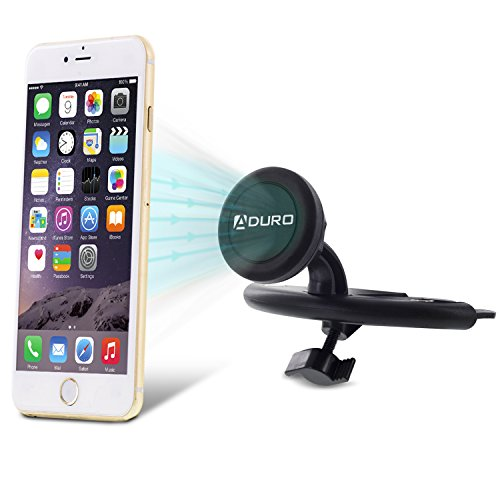Aduro U Grip Magnetic Cd Slot Car Mount For Apple Iphone  Samsung Galaxy And All Smartphones