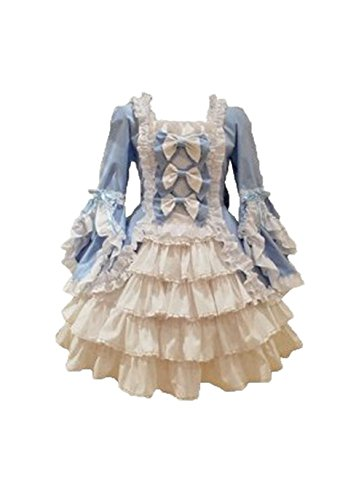 ZKCostume Women's Japan Cosplay Lolita Maid Halloween Fancy Tiered Dress