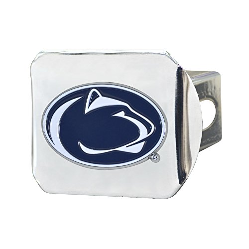 CC Sports Decor NCAA Penn State Nittany Lions Color Class III Hitch - Chrome Hitch Cover Auto Accessory ()