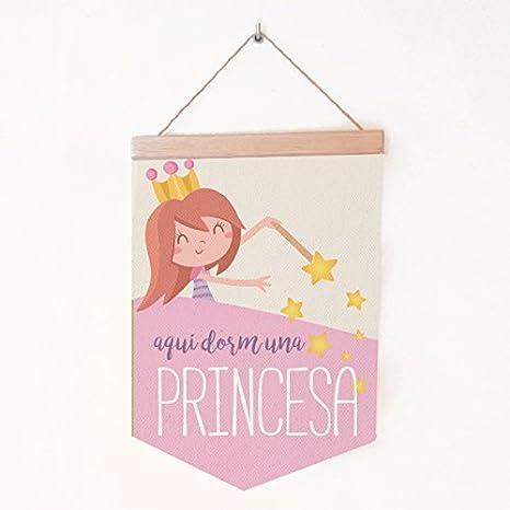 Banderola Aquí dorm una princesa 19,5x29 cm - Banderolas ...