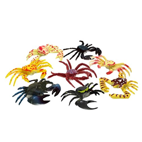 - Yeefant 8 Pcs Creative Hot Selling PVC Simulation Artificial Crab Insect Animal Model Kids Educative Toys,7.9x3.9x3.2 Inch