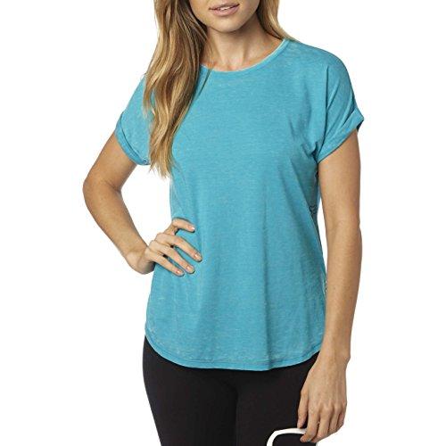 Camiseta mujer Fox Escaped Crew Roll Sleeve Jade