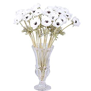 Mynightwish 6Pcs Artifical Real Touch PU Anemone Flower Bouquet Room Home Decor 102