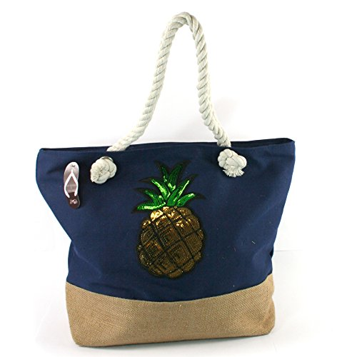 Pink Flamingo Red Stripe Bags Pineapple Blue Bag Bag Blue LilyRosa Anchor Pool Star Beach Floral Canvas Holiday Pineapple pCxqdvwxP