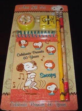Amazon.com: Snoopy – Juego de mini regalo lápices, Pad ...