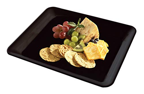 5 Rectangle Black Plastic Trays Heavy Duty Plastic Serving Tray 10
