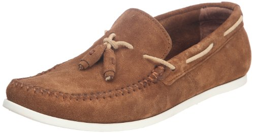 Base London Mens Joplin Moccasins Beige