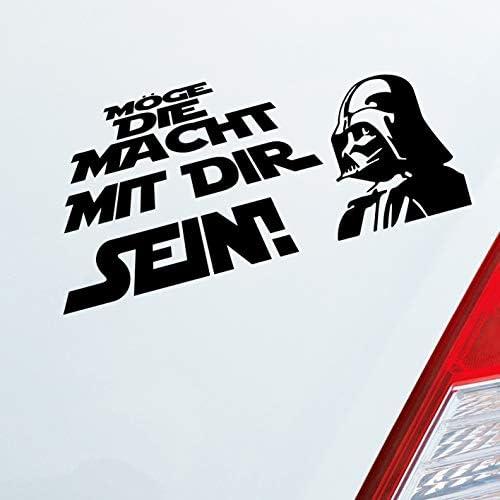 Auto Aufkleber In Deiner Wunschfarbe Möge Die Macht Mit Dir Sein Für Star Wars Fans 19 5x9 Cm Autoaufkleber Sticker Auto