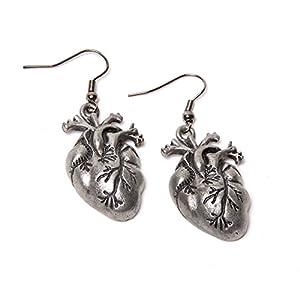 Steampunk Earrings – Human Heart