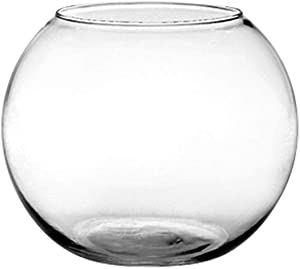 "Floral Supply Online 6"" Rose Bowl - Glass Round Vase for Weddings, Events, Decorating, Arrangements, Flowers, Office, or Home Decor"