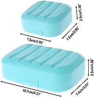 Jabonera de viaje con cierre Manyo S silicona pp azul