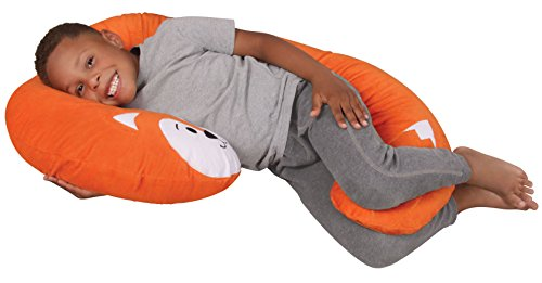 Leachco Snoogle Jr. - Luxuriously Soft Plush Fox with Zippered Removable Cover - The Snuggle, Cuddle, Animal Body Pillow for Kids (Body Animal Pillow)
