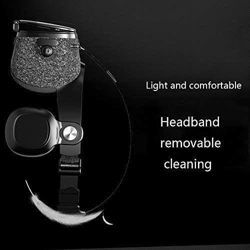 バーチャルリアリティのメガネ3D 120°FOV 4.5〜6.3インチのiPhone / Androidスマートフォンに最適、 視聴覚統合,Black,Package2