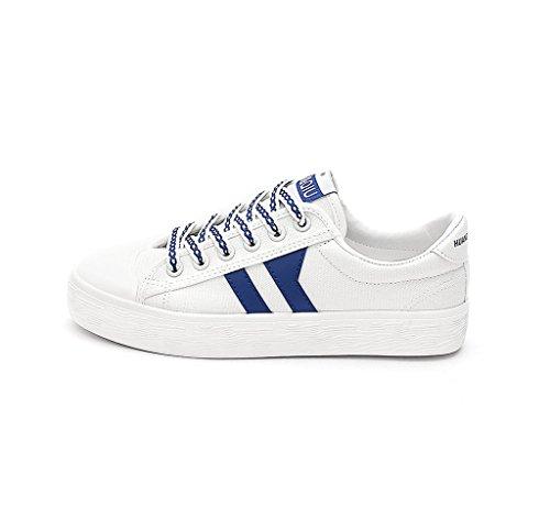 lona planos los de del Tama Los respirable zapatos del Azul Color los calzan zapatos o ocasionales de 35 Azul estudiante verano de zapatos zapatos los XwX8I