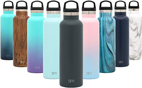 Simple Modern 32oz Ascent Water Bottle - Hydro Vacuum Insulated Flask w/Handle Lid - Double Wall Stainless Steel Reusable - Leakproof -Graphite