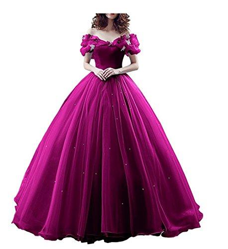 Chupeng Women's Princess Costume Butterfly Off Shoulder Cinderella