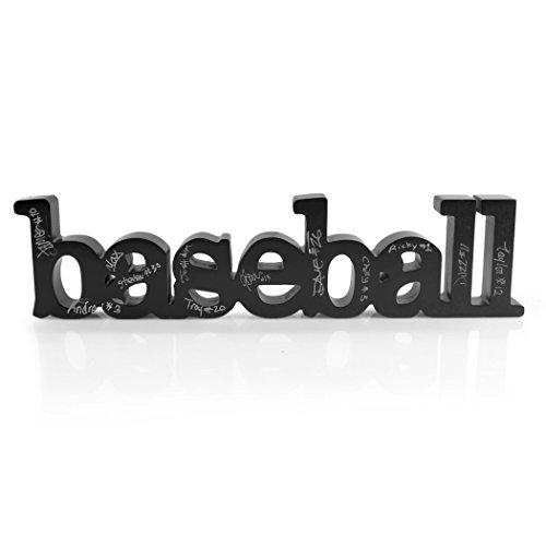 ChalkTalkSPORTS Baseball Wood Words Ready to Autograph   Baseball Sign & Decor (Best Pen For Baseball Autographs)