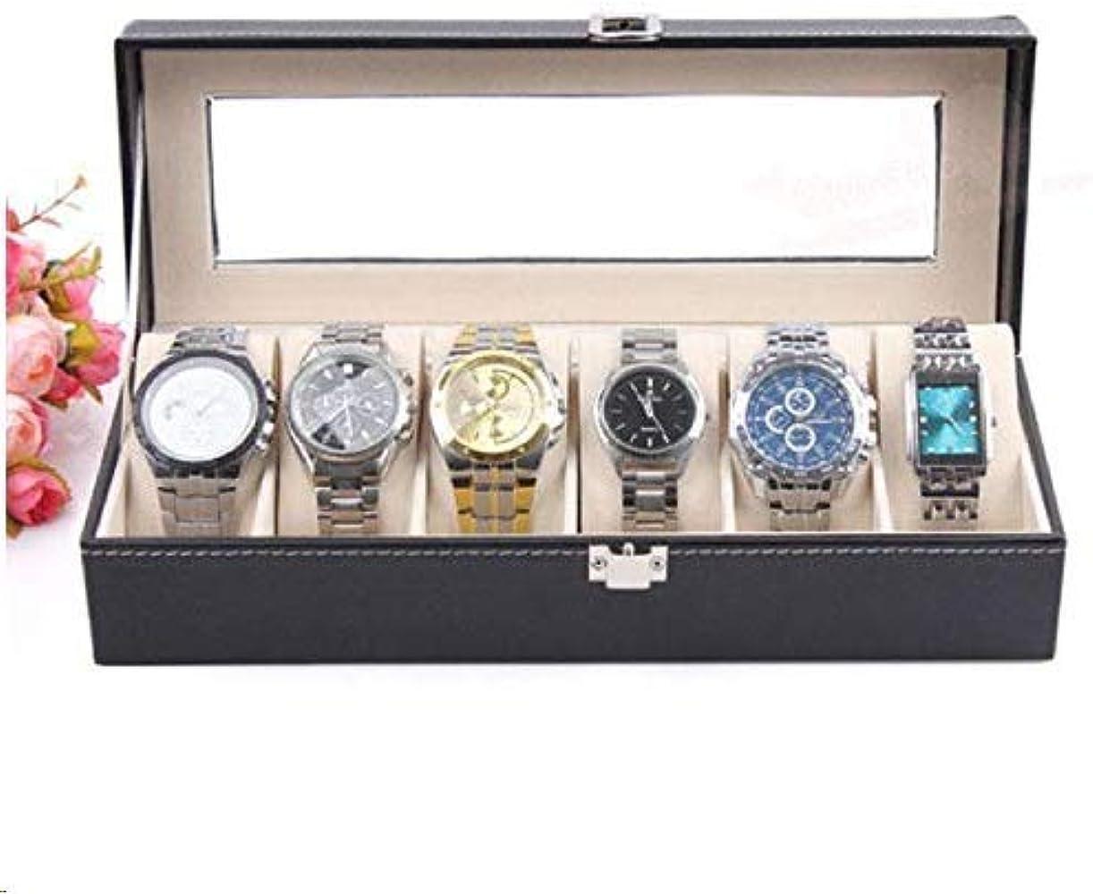 Caja De Relojes Relojero Joyero Piel PU 6 Compartimentos Soporte ...
