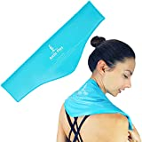 Arctic Flex Neck Ice Pack - Cold Compress Shoulder Therapy Wrap - Cool Reusable Medical Freezer Gel Pad for Swelling, Injuries, Headache, Cooler - Flexible Hot Microwaveable Heat - Men, Women (1 Pack)