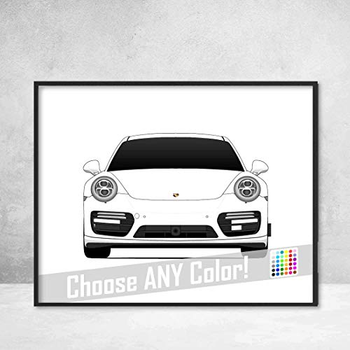 Porsche 911 Turbo (991) Poster Print Wall Art Decor Handmade Carrera S GTS Targa GT3 R Turbo S