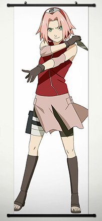 Wall Scroll Poster Fabric Painting For Anime Naruto Haruno S