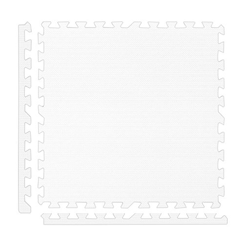 Alessco EVA Foam Rubber Interlocking Premium Soft Floors 30' x 30' Set White
