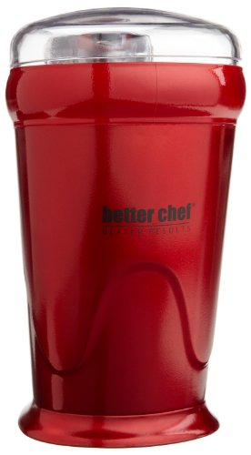 Better Chef Coffee Grinder, Red For Sale