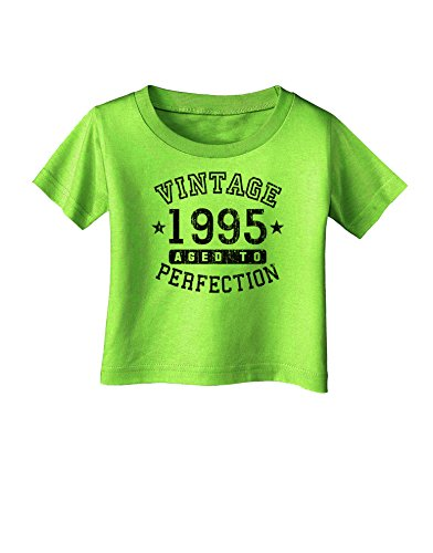 TooLoud 20th Birthday Vintage Birth Year 1995 Infant T-Shirt - Lime Green - 06Months
